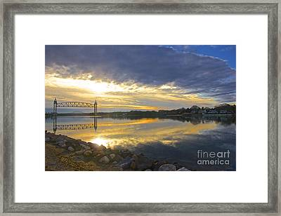 Dramatic Cape Cod Canal Sunrise Framed Print by Amazing Jules