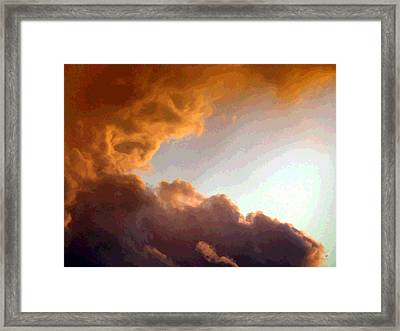 Dramatic Cloud Painting Framed Print by Will Borden