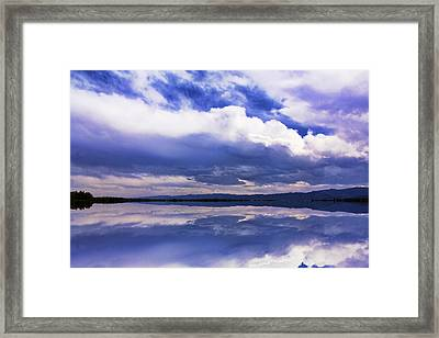 Dramatic Clouds Of A Coming Storm Framed Print by Daphne Sampson