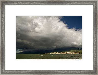 Framed Print featuring the photograph Dramatic Clouds by Rod Jones