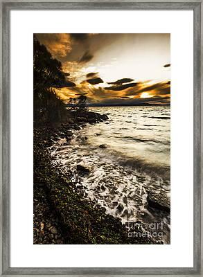Dramatic Dark Coast Framed Print