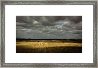 Dramatic Farmland Framed Print by Chris Fletcher