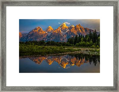 Dramatic Grand Teton Sunrise Framed Print