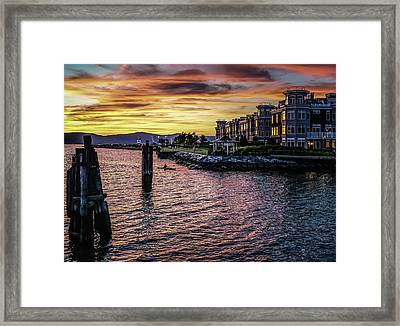 Dramatic Hudson River Sunset Framed Print by Jeffrey Friedkin