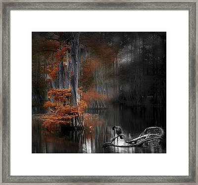 Dramatic Lake Framed Print