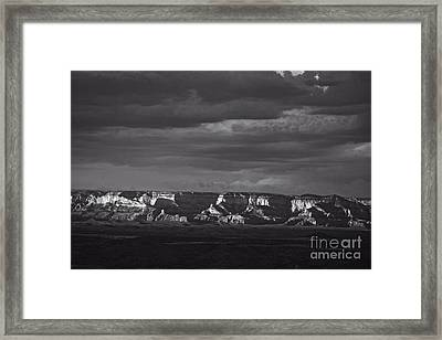 Framed Print featuring the photograph Dramatic Late Afternoon Light by Ron Chilston