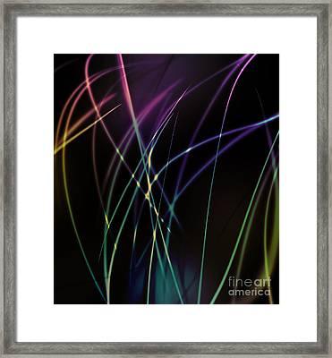 Dramatic Light Line Framed Print