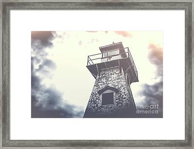 Dramatic Lighthouse Framed Print by Edward Fielding
