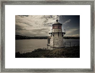 Dramatic Mid-day Shot Of Squirrel Point Framed Print