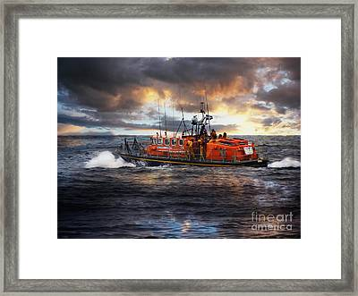 Dramatic Once More Unto The Breach  Framed Print