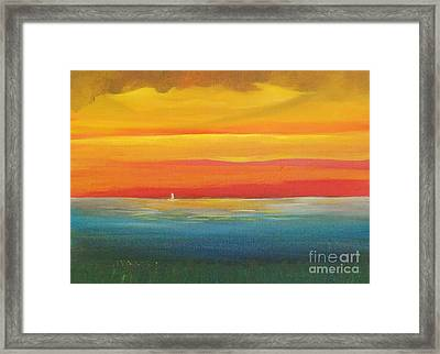 Dramatic Sky Beach Framed Print