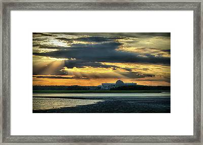 Dramatic Sky Before Sunset Framed Print by Lilia D
