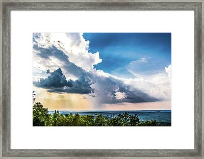 Framed Print featuring the photograph Dramatic Sunrays Over The Valley by Shelby Young