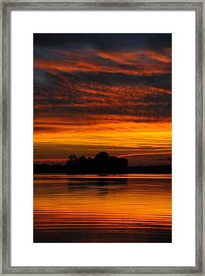 Dramatic Sunset Framed Print by M James McAdams