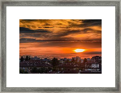 Dramatic Sunset Over Sofia Framed Print