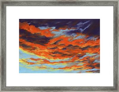 Dramatic Sunset - Sky And Clouds Collection Framed Print