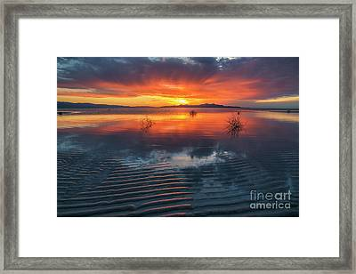 Framed Print featuring the photograph Dramatic Sunset by Spencer Baugh