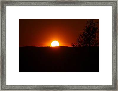 Dramatic Sunset View From Mount Tom Framed Print