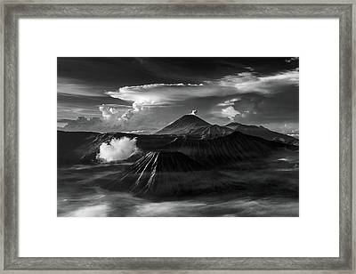 Framed Print featuring the photograph Dramatic View Of Mount Bromo by Pradeep Raja Prints