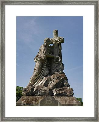 Draped Cross Framed Print