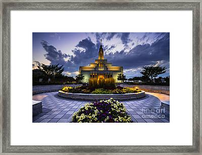 Draper Mormon Lds Temple - Utah Framed Print by Gary Whitton