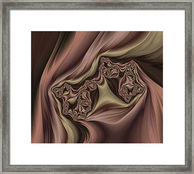 Drapes Abstract Framed Print by Marianna Mills