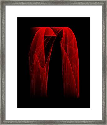 Draping Fall II Framed Print