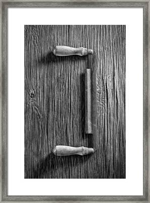 Draw Knife Framed Print