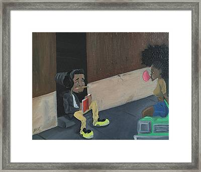 Draw Me Framed Print
