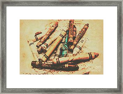 Draw Of Vintage Art Framed Print by Jorgo Photography - Wall Art Gallery