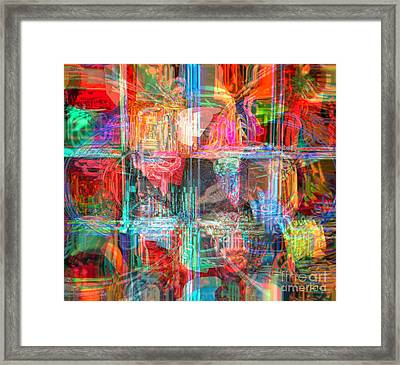Draw On His Strength Framed Print by Fania Simon
