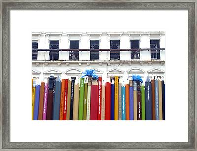 Draw The Curtains Framed Print by Jez C Self