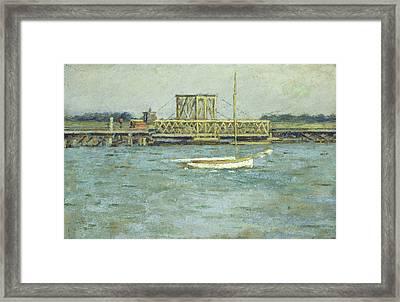 Drawbridge Framed Print by Theodore Robinson