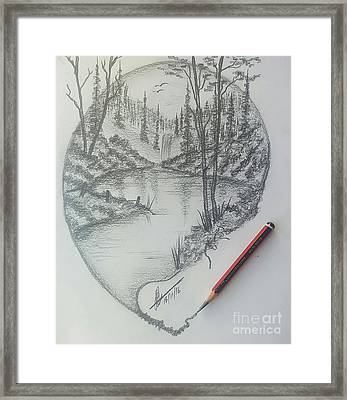 Drawing A Masterpiece 2 Framed Print by Collin A Clarke
