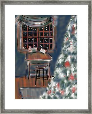 Drawing Board At Christmas Framed Print