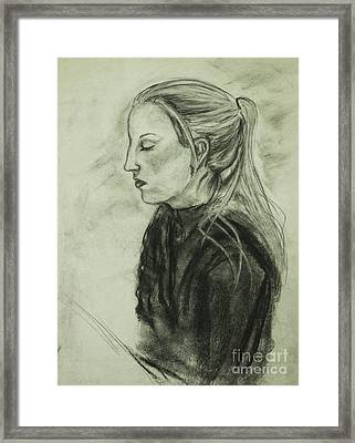 Framed Print featuring the drawing Drawing Of An Artist by Angelique Bowman