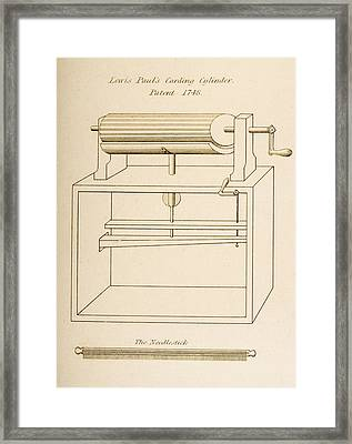 Drawing Of Lewis Paul S Carding Framed Print by Vintage Design Pics
