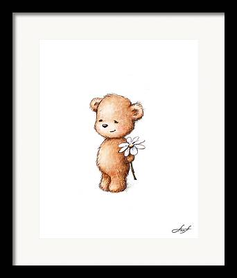 Baby Room Drawings Framed Prints