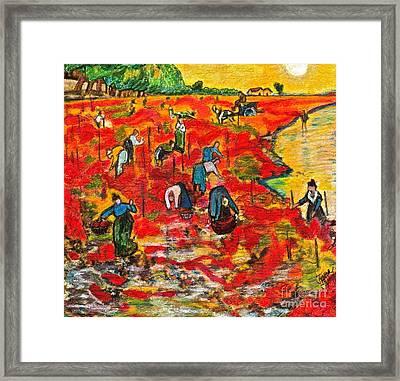 Drawing Van Gogh Framed Print by Karen Kinzie