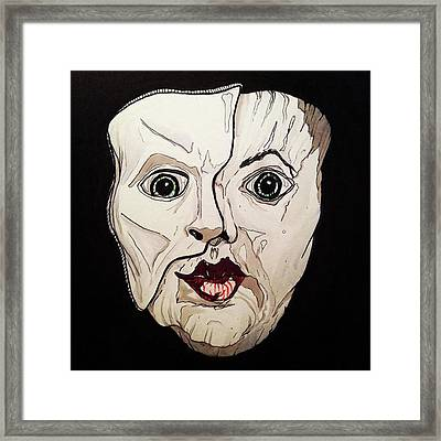It's Not Inside Your Mind Framed Print by Russell Boyle