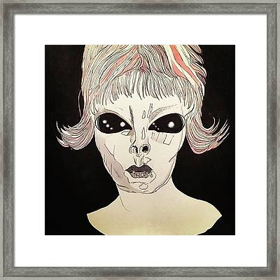 She Came From Planet Claire Framed Print