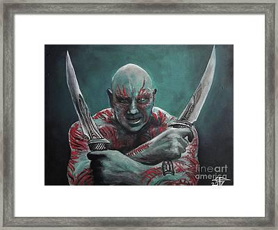 Drax The Destroyer Framed Print by Tom Carlton