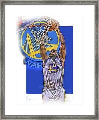 Draymond Green Golden State Warriors Oil Art Framed Print