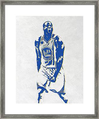 Draymond Green Golden State Warriors Pixel Art Framed Print