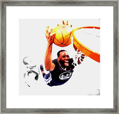 Draymond Green Taking Flight Framed Print