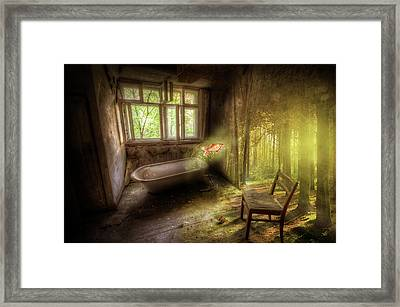 Framed Print featuring the digital art Dream Bathtime by Nathan Wright