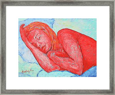 Framed Print featuring the painting Dream Big   by Xueling Zou