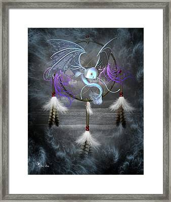 Dream Catcher Dragon Fish Framed Print