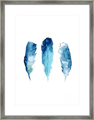 Dream Catcher Feathers Painting Framed Print by Joanna Szmerdt