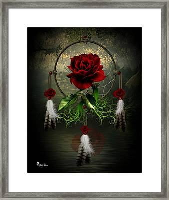 Dream Catcher Rose Framed Print
